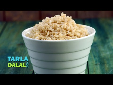 Brown Rice (High Fibre Recipe) by Tarla Dalal