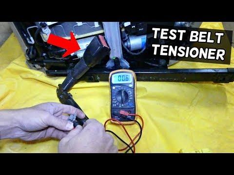 HOW TO TEST SEAT BELT PRETENSIONER TENSIONER ON BMW