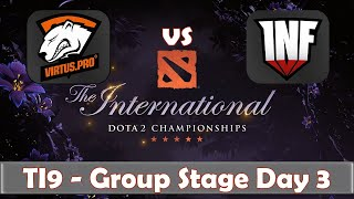 VP vs Infamous | The International 2019 | Dota 2 TI9 LIVE | Group Stage Day 3
