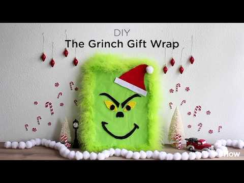 DIY 'The Grinch' Gift Wrap