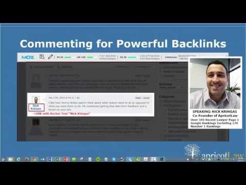 LAWYER SEO: How to Get Super Powerful Backlinks by Blog Commenting