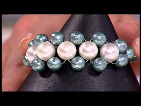 How to Make a Bracelet using Shell Pearls