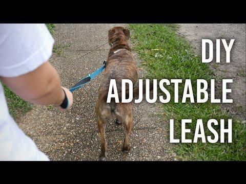 How to Make an Adjustable Dog Leash : DIY