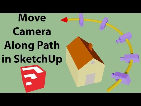 Move Camera Along Path in SketchUp | Smooth Animation