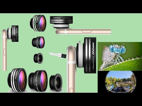 Mpow iPhone Lens,3 in 1 Clip-On Supreme Fisheye Lens under 13$