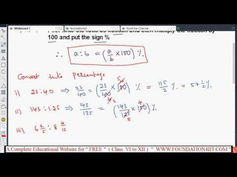 How to convert ratio into a percentage || Class 8 Maths ICSE ||