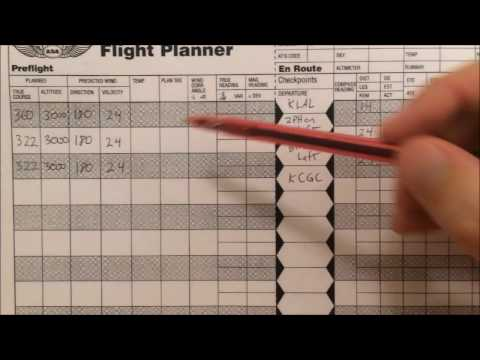 VFR Nav Log (Video 4)  True Airspeed