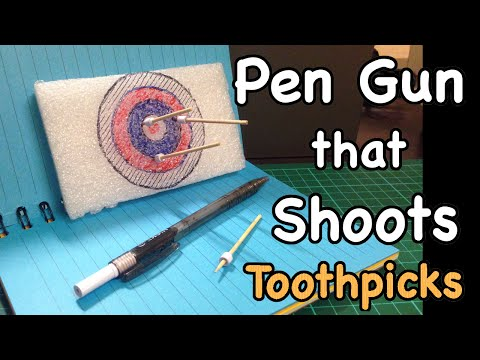 How to make Pen gun that shoots toothpicks
