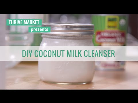 How to DIY A Coconut Milk Face and Body Cleanser