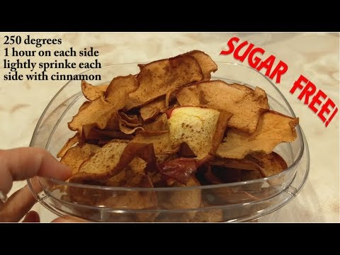 Fabulous and Healthy Baked Cinnamon Apple Chips - Sugar Free