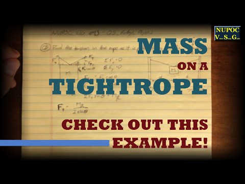 NUPOC VSG #93 - Suspending a Mass on a Tightrope
