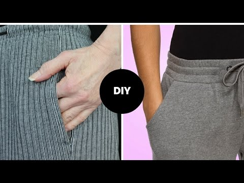 HOW TO SEW POCKET I 2 WAYS I INSEAM & FRONT HIP