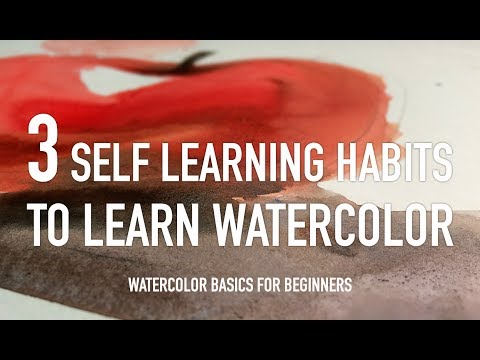 watercolor basics for beginners - 3 self learning habits to learn watercolor
