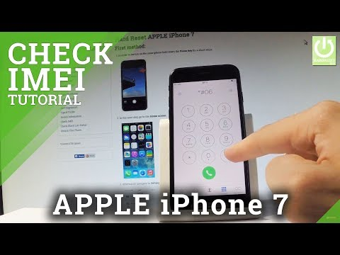 How to Check IMEI in iPhone 7 - APPLE IMEI Number