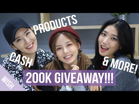 200K Subscriber Giveaway! | $200 worth of Gifts, Products, and Cash Vouchers! | Wishtrend