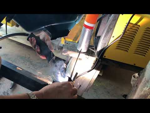 The heat hits the steel! Race car restoration updates! Welding up the front end