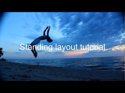Standing Backflip tutorial ( Layout/whip) | Tutorial #1