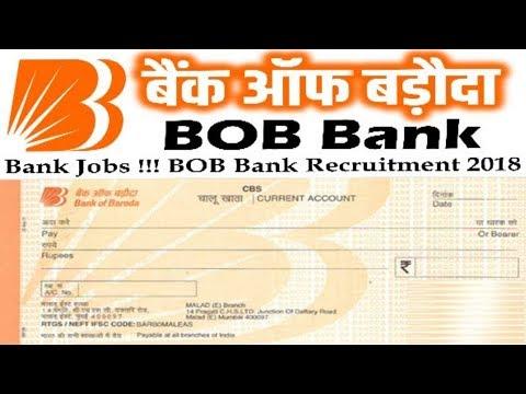 Bank of Baroda Recruitment 2018 | Jobs in Bank | All Over India Jobs