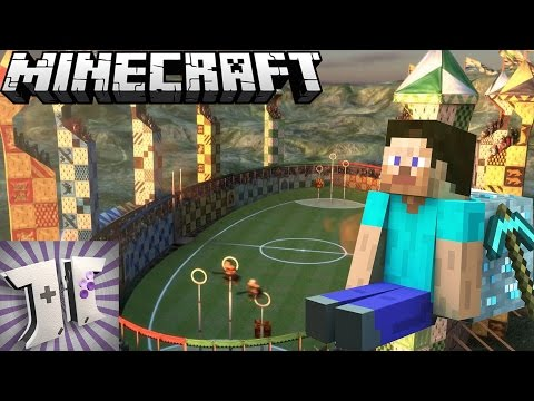 MINECRAFT: Harry Potter Quidditch Field Let's Build: EP44