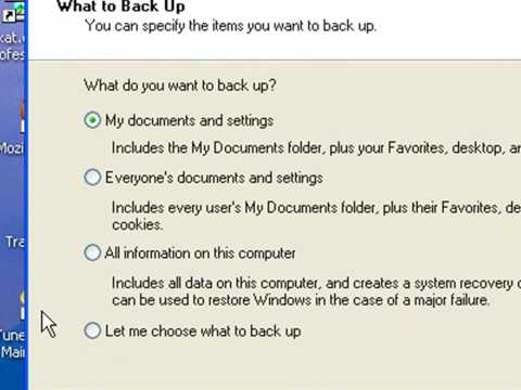 Create A Backup of your computer data using Windows XP