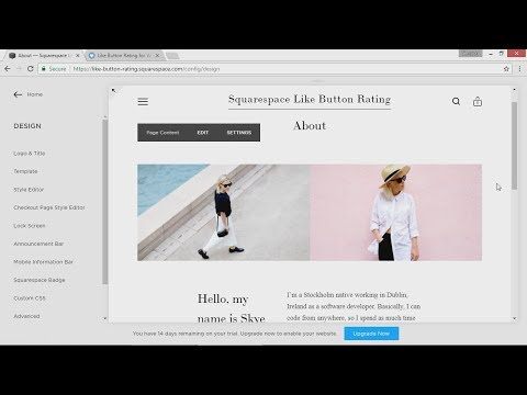 Squarespace Like Button Rating