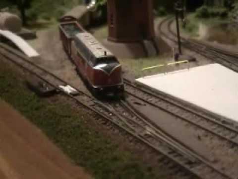 Z-scale model train running very slow