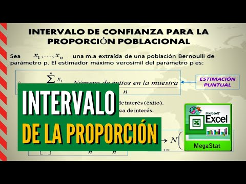 INTERVALO DE LA PROPORCIÓN CON MEGASTAT - EXCEL