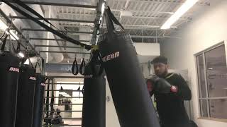 Getting some bag work in...