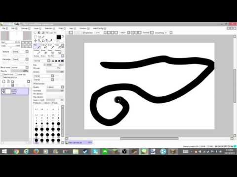 How to draw smooth lines with a graphics tablet!