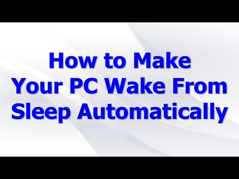 How to Make Your PC Wake From Sleep Automatically