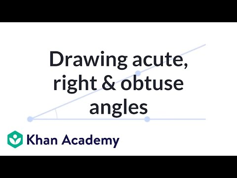 Drawing acute, right and obtuse angles | 4th grade | Khan Academy