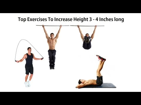 Top Exercises to Grow Taller 3-4 inches long