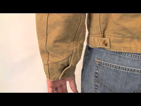 Carhartt's Sandstone Detroit Jacket/Blanket Lined J97