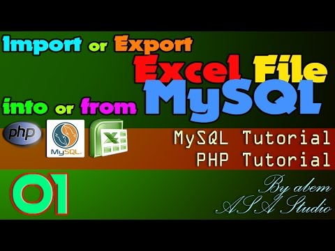 Import or Export Excel File into or from MySQL, 1, Project Preview and Create Folder, Excel PHP Tuto