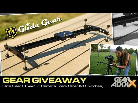 GEAR GIVEAWAY:  Glide Gear DEV-235 Video Camera Track Slider (23.5 inches)