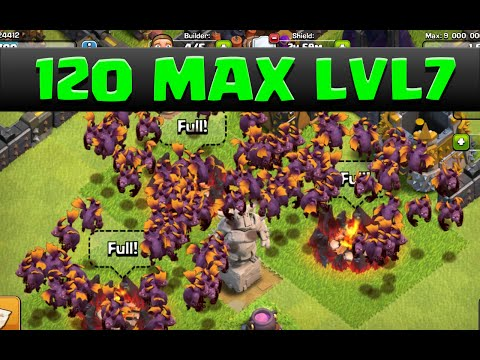 Clash of Clans Gemming LVL 7 Minions 120 Max Minion Raids| MAX LVL 7 MINIONS ROCK!