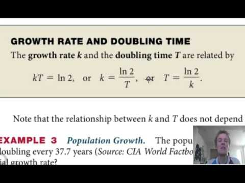 Growth rate and doubling time