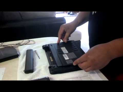 How to Replace hard drive on acer aspire one 756 in less than 3 minutes