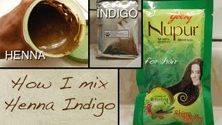 Henna For Hair / How To Mix Henna & Indigo For Natural Hair Dye
