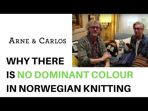 Why there is no dominant color in Norwegian knitting by ARNE & CARLOS