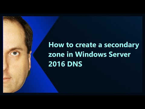 How to create a secondary zone in Windows Server 2016 DNS