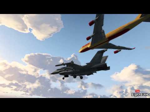 GTA 5 STUNT - LANDING AIRPLANE ON JET AIRPLANE #3