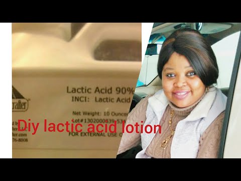HOW TO MAKE EXFOLIATING LACTIC ACID LOTION