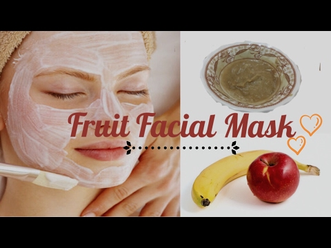 Fruit Face Mask For Glowing skin in 20 minutes / Fruit Face Pack
