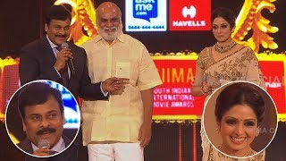 Legendary Director Raghavendra Rao Honoured By Chiranjeevi And Sridevi