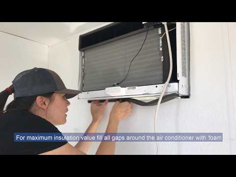 Installing Your A/C for Your CoolBot Walk-in Cooler