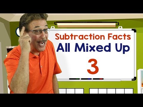 Subtraction Facts All Mixed Up 3 | Math Songs for Kids | Jack Hartmann
