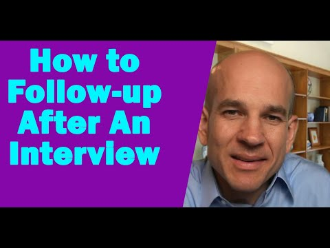 How to follow-up after a job interview