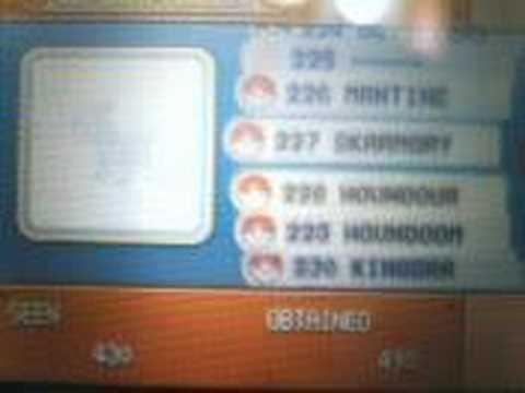 Booy Pokemon Pearl  07/05/08  My pokedex!!without cheats