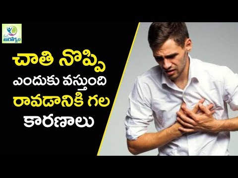 Chest Pain Causes and Treatment - Mana Arogyam Telugu Health Tips